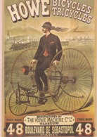 HOWE, Bicycles, Tricycles, Copie De Pub, Carte Moderne - Pubblicitari