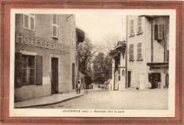 CPA - JUJURIEUX (01) - Aspect De L'Hôtel Bernard à La Descente Vers La Gare En 1941 - Francia