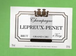 """ETIQUETTE DE CHAMPAGNE """"    LEPREUX-PENZT - Champagne"""