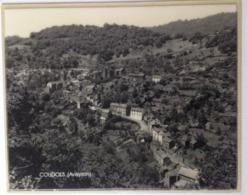 Objet Du Train : Photographie De Compartiment De Wagon SNCF COUDOLS (Aveyron) Grand Format Sous Plastique Rigide - Reproductions