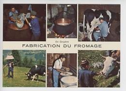 En Gruyère : La Fabrication Du Gruyère De Fromage - Multivues étapes, Métiers, Vache - Cp Viuerge N°9927 - Artisanat