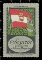 Old German Poster Stamp Cinderella Vignette Erinoffilo Reklamemarke Flag Flagge Austria Oesterreich. - Flaggen