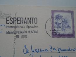 D168663 International Esperanto Museum Handstamp  On Postcard Wien  Schwarzenbergplatz - Stamps