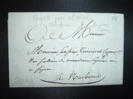 LETTRE (Pli Avec Correspondance Datée 19 Juillet 1816 Pour NARBONNE (11 AUDE) Requête Pour Vol De Sel - Marcofilia (sobres)