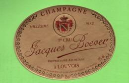 """ETIQUETTE DE CHAMPAGNE """"    Jacques  BOEVER - Champagne"""