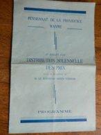 WAVRE:PROGRAMME DU PENSIONNAT DE LA PROVIDENCE DU 17 JUILLET 1934 DISTRIBUTION DES PRIX - Programmes