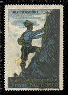 Old German Poster Stamp Cinderella Vignette Erinoffilo Reklamemarke Sport Climbing Kletter Nürnberg Nuremberg. - Climbing