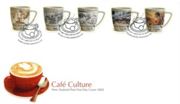 New Zealand 2005 Cafe Culture FDC Cover - FDC