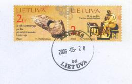 Litauen Millenium Publijus Kornelijus Tacitus Historiker Senator - Prähistorische Forschung 2006 Knochen Beil - Kaunas - Archaeology