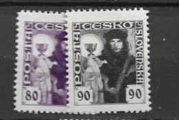 1920 MNH Czechoslovakia Michel 181-2 - Neufs