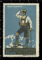 Old German Poster Stamp Cinderella Vignette Erinoffilo Reklamemarke Sport Climbing Kletter Nürnberg Nuremberg. - Bergsteigen