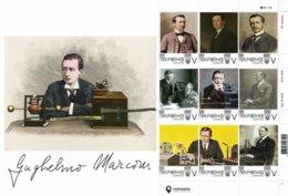 Ukraine 2019, Radio Inventor G. Marconi, Sheetlet Of 9v - Ukraine