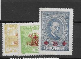 1920 MNH Czechoslovakia Michel 196-98 - Neufs