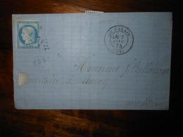Lettre GC 2771 Le Palais Morbihan - 1849-1876: Période Classique