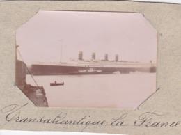 """Photographie Transatlantique  """" La France """"( Ref 226 ) - Bateaux"""