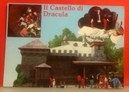 GARDALAND Castello Dracula Parco Divertimenti Italia Cartolina  Viaggiata 1986 - Disney