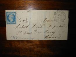 Lettre GC 2762 Ouzouer Sur Trezee Loiret Avec Correspondance - 1849-1876: Période Classique