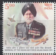 INDIA, 2019 Marshal Of The Indian Air Force ARJAN SINGH DFC, 1v, MNH(**) - India