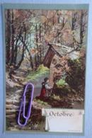 Calendrier ; Octobre  Avant 1906 - Cartes Postales