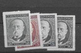 1930 MNH Czechoslovakia Michel 299-302 - Neufs