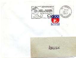 VAL De MARNE - Dépt N° 94 THIAIS 1966 = FLAMME Codée = SECAP  ' N° De CODE POSTAL / PENSEZ-Y ' - Postleitzahl