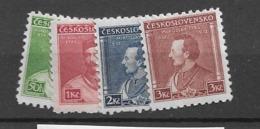 1932 MNH Czechoslovakia Michel 314-17 - Neufs