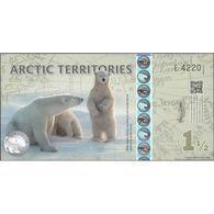 TWN - ARCTIC TERRITORIES - 1½ Polar Dollar 2014 Polymer - Prefix E UNC - Non Classificati
