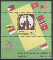 Philippines - Bloc - BF - YT 55 ** MNH - 1993 - Basket-ball - Southeast Asian Games '93 - Filipinas