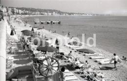 1965 PLAGE NICE FRANCE AMATEUR 35mm ORIGINAL NEGATIVE Not PHOTO No FOTO - Photographica
