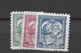 1935 MNH Czechoslovakia Michel 339-41 - Neufs