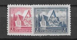 1935 MNH Czechoslovakia Michel 336-7 - Neufs