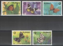Philippines - YT 1965-1969 ** MNH - 1993 - Papillons - Philippine Butterflies - Filipinas