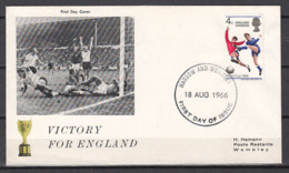 Football / Soccer / Fussball - WM 1966:  UK  FDC Used - Coupe Du Monde