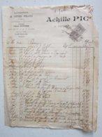 ENTREPRISE DE VOITURES PUBLIQUES - CHAR FUNEBRE à Prémery (58) Le 5/10/1899 Timbre Quittance 10c - Facture à Entête - Verkehr & Transport