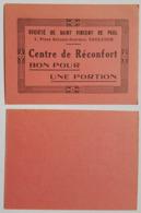 BON POUR UNE PORTION - SOCIETE DE ST VINCENT DE PAUL - TOULOUSE - CENTRE DE RECONFORT - CATHOLIQUE - Monetary / Of Necessity