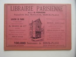 """FRANCE-ALBUM"""" SOUVENRIS DE BERCK-PLAGE """" (1895) Avec NOMBREUSES GRAVURES PUBLICITÉS - Magazines - Before 1900"""