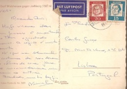 Germany & Marcofilia, Dorf Walchensee Gegen Jochberg,   Garmisch-Partenkirchen To Lisboa 1964 (8403) - Storia Postale