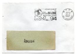 VAL De MARNE - Dépt N° 94 VILLEJUIF 1967 = FLAMME PP Codée = SECAP  ' N° De CODE POSTAL / PENSEZ-Y ' - Zipcode