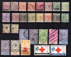 Gibraltar Belle Petite Collection D'anciens 1886/1963. Bonnes Valeurs. B/TB. A Saisir! - Gibraltar