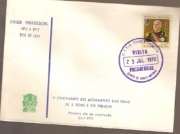 Sao Tome And Principe  & FDC V Centenary Of Sao Tome And Principe Islands Finding, Presidential Visit 1970 (776) - São Tomé Und Príncipe