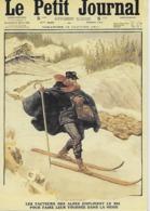 CPM - Publicité - Le Petit Journal Du Dimanche 5 Janvier 1911 !Les Facteurs Des Alpes Emploient Le Skici - Pubblicitari