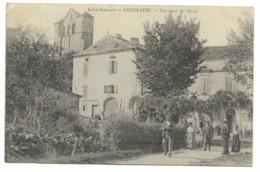 47-LOUGRATTE-Vue Prise De L'Ecole...1906   Animé - Autres Communes