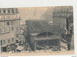 PARIS TRAVAUX METROPOLITAIN LES FERMES DU BOULEVARD SAINT ANDRE AVANT FORCAGE CPA BON ETAT - Stations, Underground