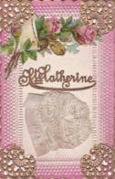 CARTE FANTAISIE SAINTE CATHERINE BONNET EN TISSU - Saint-Catherine's Day