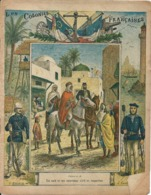 Couverture Cahier Les Colonies Françaises N°18 Un Caïd Et Son Controleur Civil En Inspection Dascher Collection Geisler - Book Covers