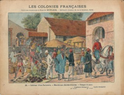 Couverture Cahier Les Colonies Françaises N°20 Sénégal Troupe Du Pays Marché Factorerie Spahis Dascher Geisler - Book Covers