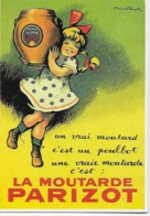 """CPM - Publicité - La Moutarde  """"PARIZOT"""" (Par Paulbot Vers 1930)-     Écrit En 1990 - Pubblicitari"""