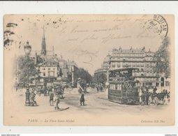 PARIS LA PLACE SAINT MICHEL CPA BON ETAT - Squares