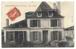 47-SAINT-BARTHELEMY-Vieux Chateau...1913  Animé  (Verso Auréole, Coin Pli) - Autres Communes