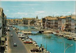 SETE - Le Canal - Les Quais Et Le Palais Consulaire - Voiture : Citroen DS - Renault Dauphine - 4L - Sete (Cette)
